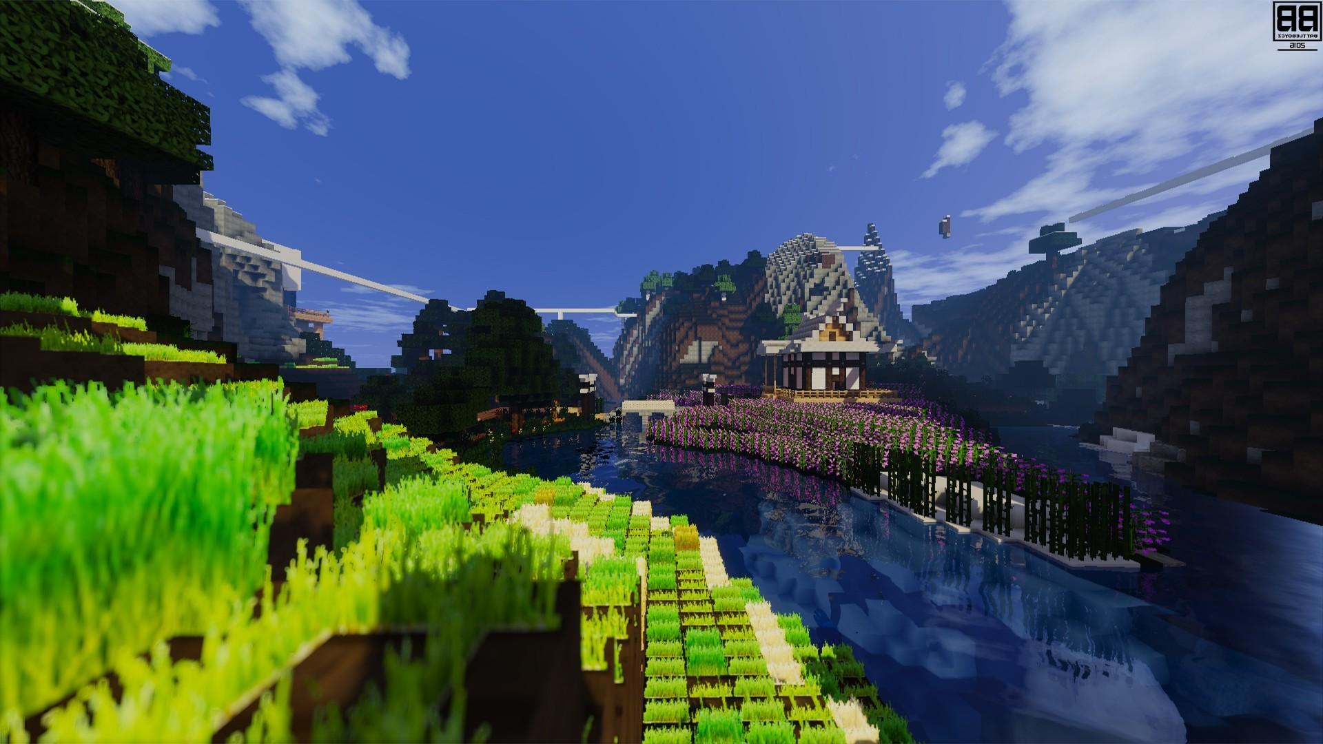 Video Games, Minecraft, Pixels, Nature Wallpapers Hd - Nature Minecraft Desktop Background , HD Wallpaper & Backgrounds
