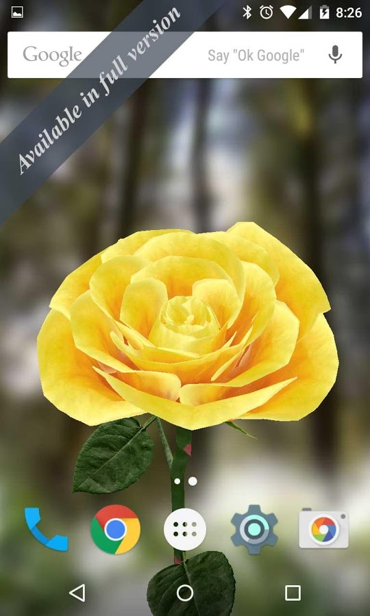 3d Rose Live Wallpaper For Pc - Android Screen Lollipop , HD Wallpaper & Backgrounds