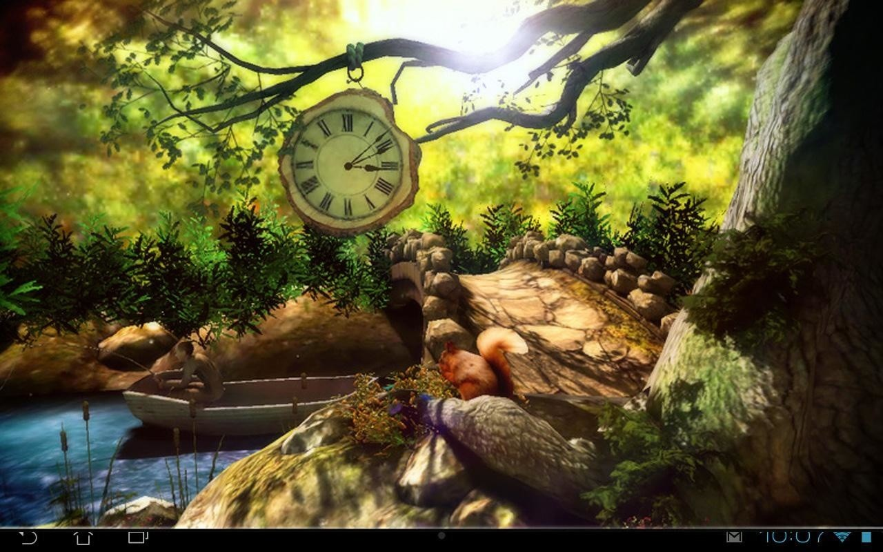 Fantasy Forest 3d Free - Fantasy Forest 3d , HD Wallpaper & Backgrounds