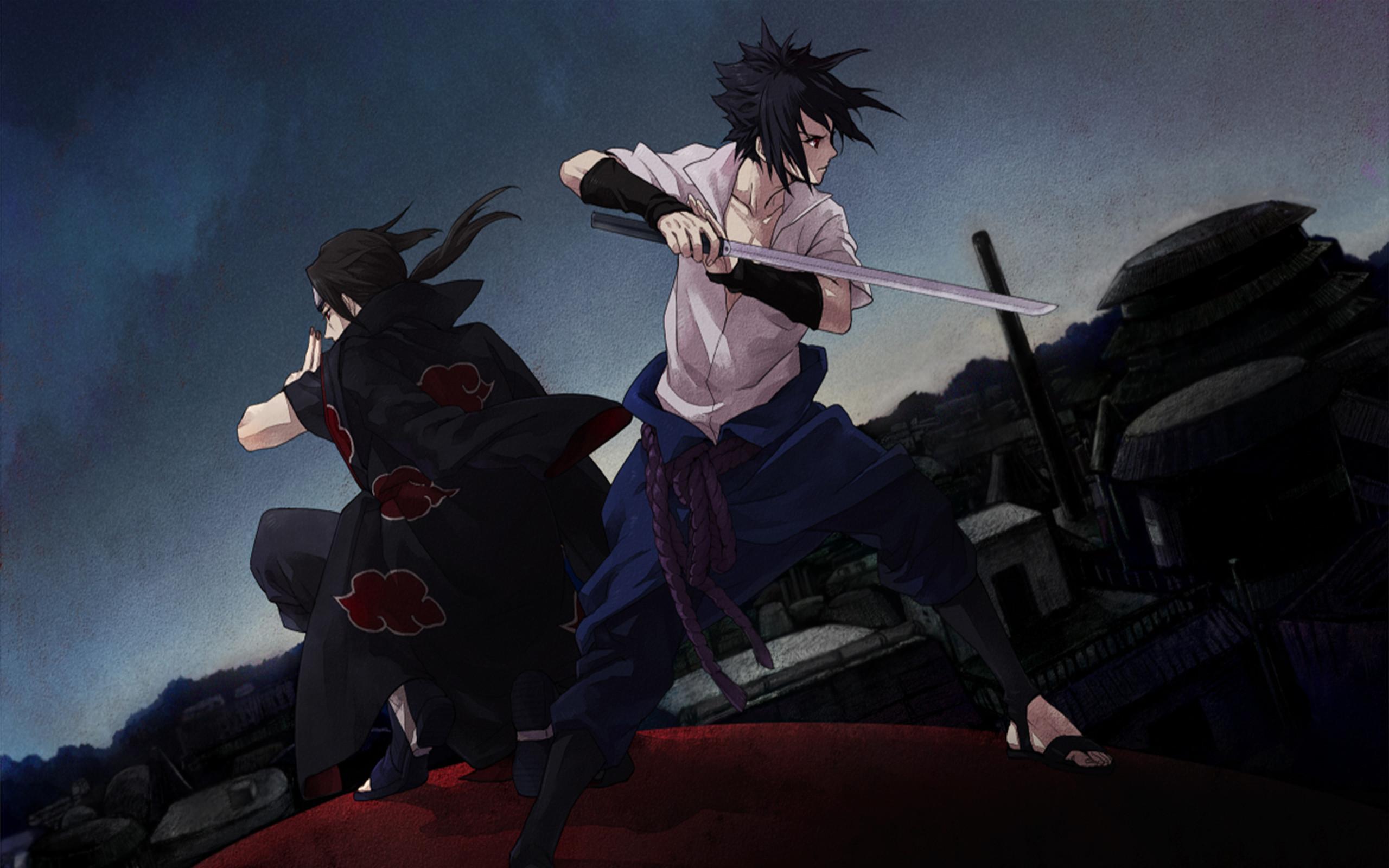 Uchiha Brothers Sasuke And Itachi Wallpaper Hd 81559 Hd Wallpaper Backgrounds Download