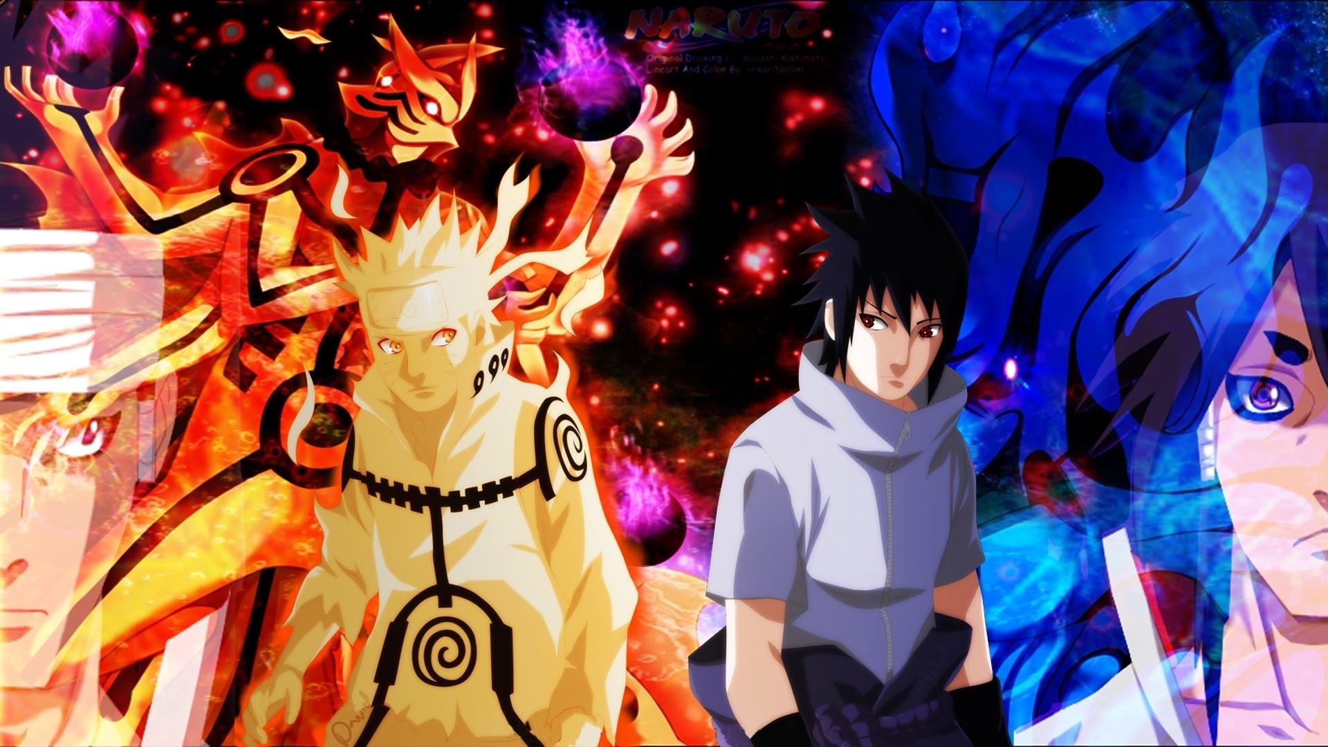 Battle Naruto Vs Sasuke Wallpaper Desktop Free Laptop