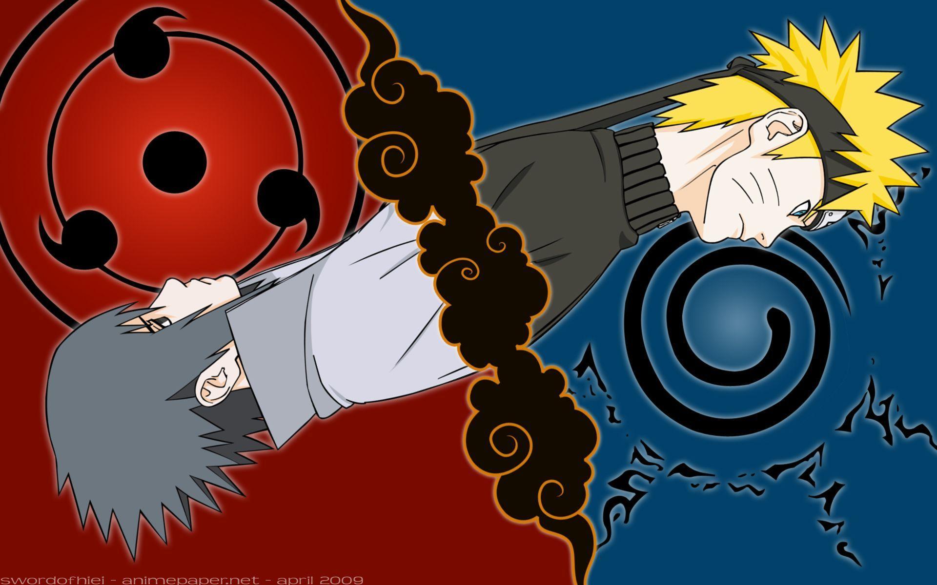 Naruto Uzumaki Sasuke Uchiha Hd Wallpapers A Naruto Naruto