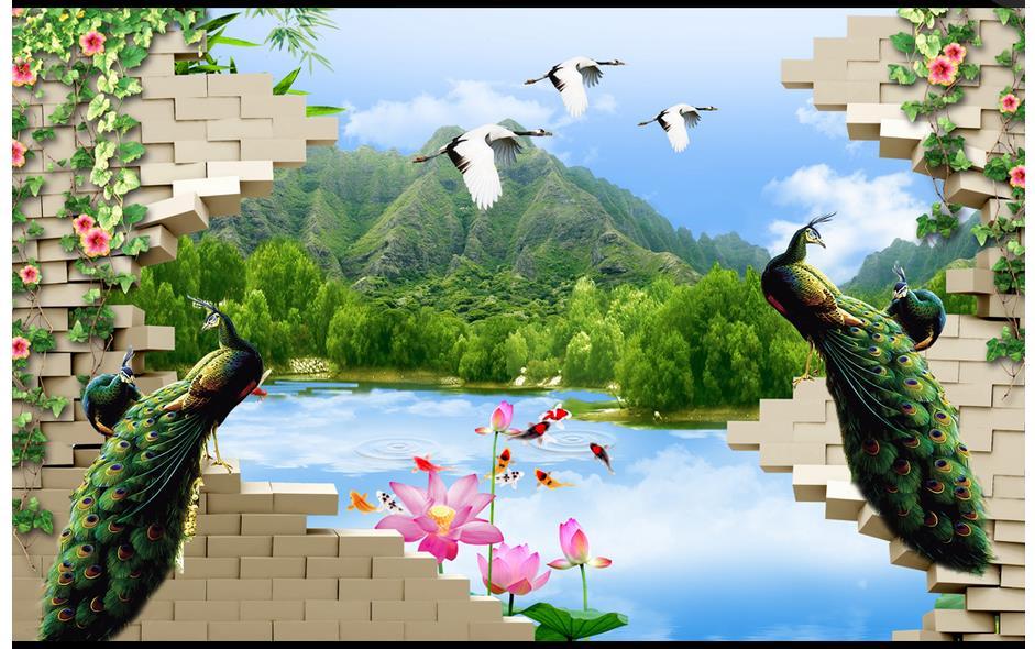 Customized 3d Wallpaper For Walls 3 D Wall Murals Wallpaper