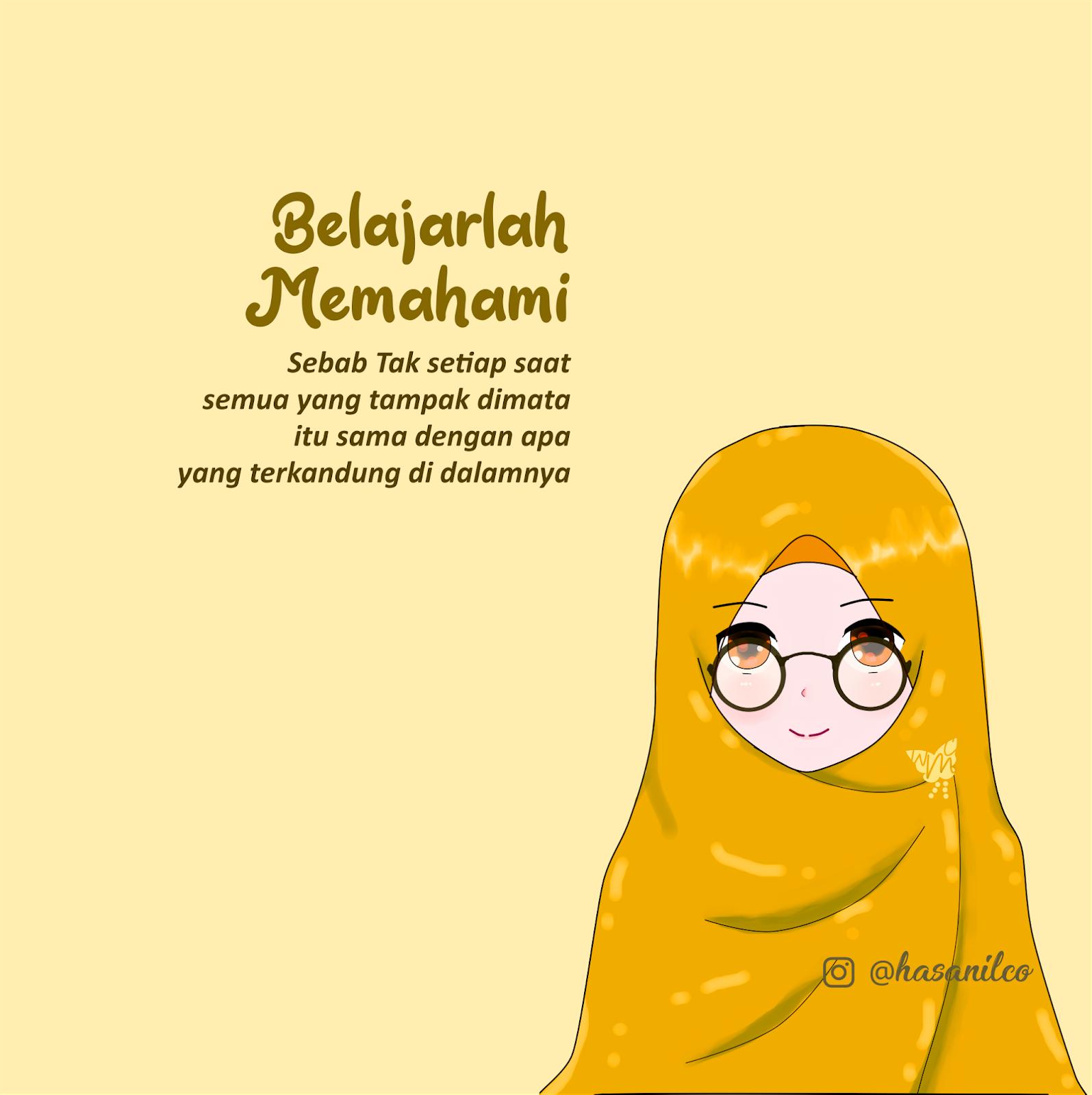 Kartun Muslimah Pakai Kacamata 83718 Hd Wallpaper