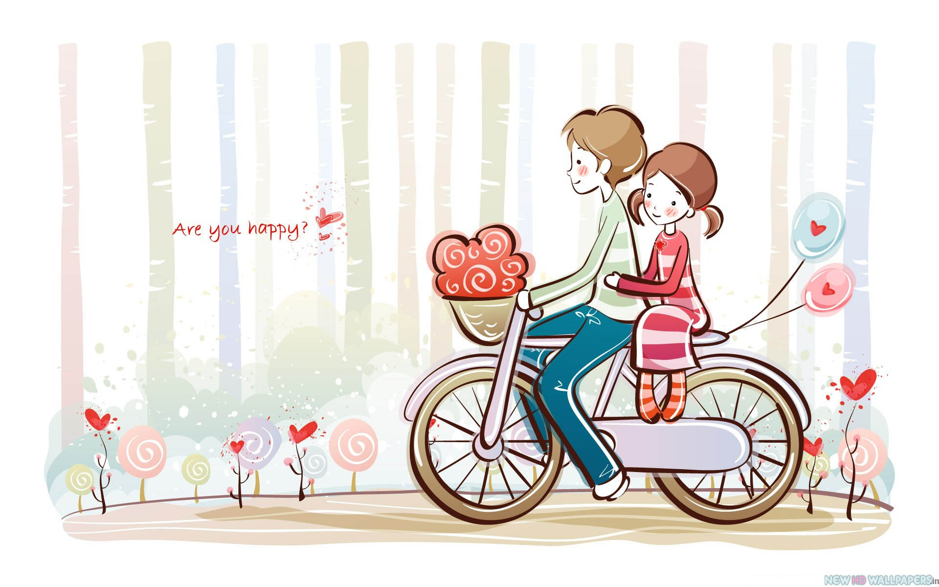 Wallpaper Kartun Cute Couple Pic In Cartoon HD