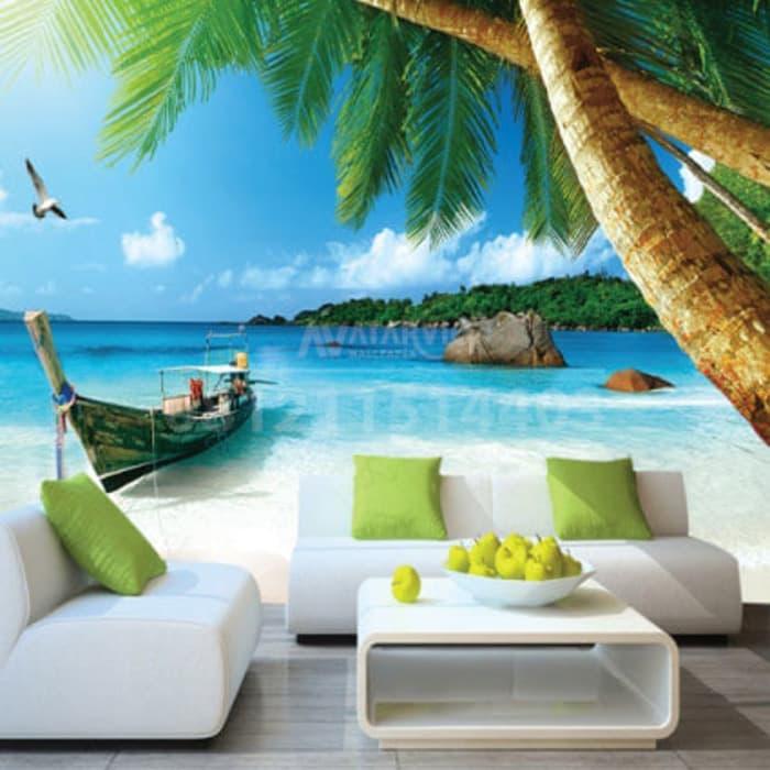 Wallpaper Dinding Custom 3d 3 Dimensi Pemandangan Alam