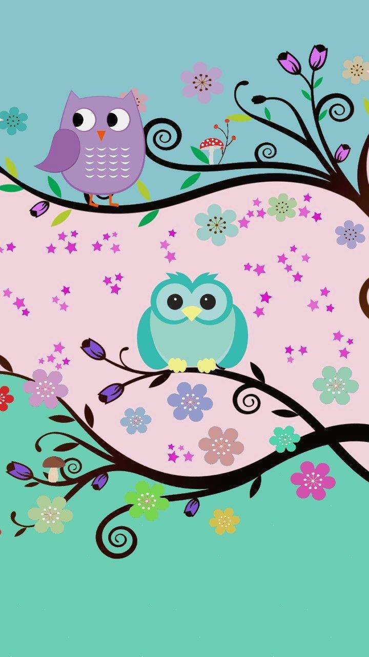 Gambar Wallpaper Kartun Owl Fondos De Buhos Animados
