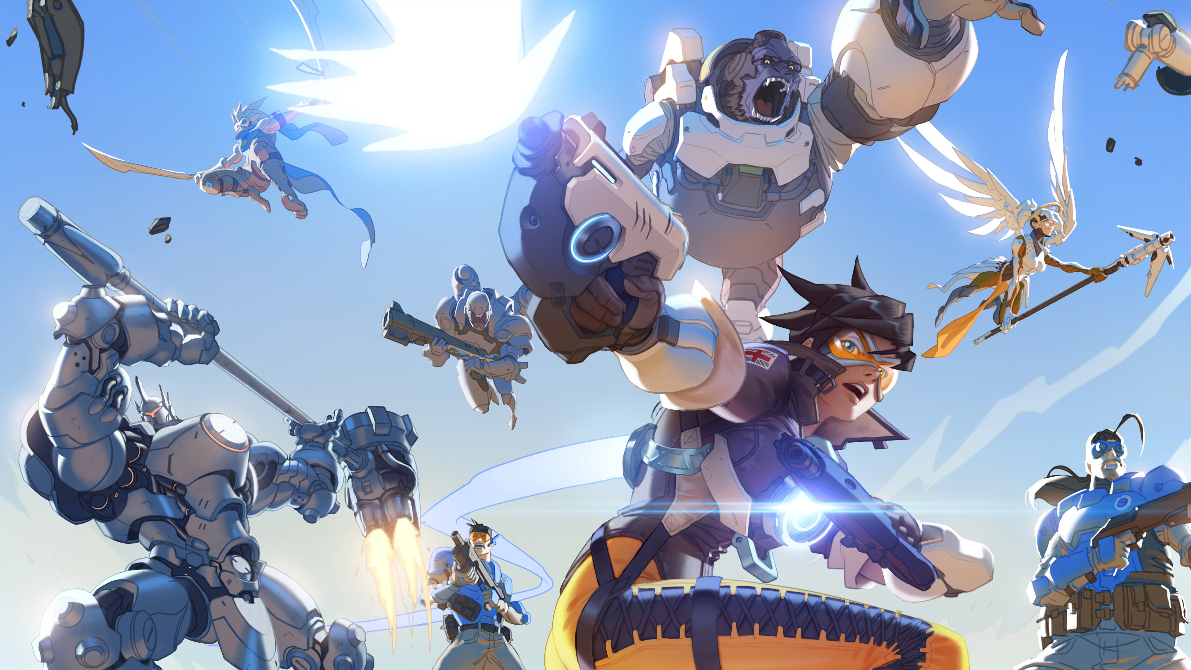 Overwatch Backgrounds Overwatch Storm Rising Omnic 84569