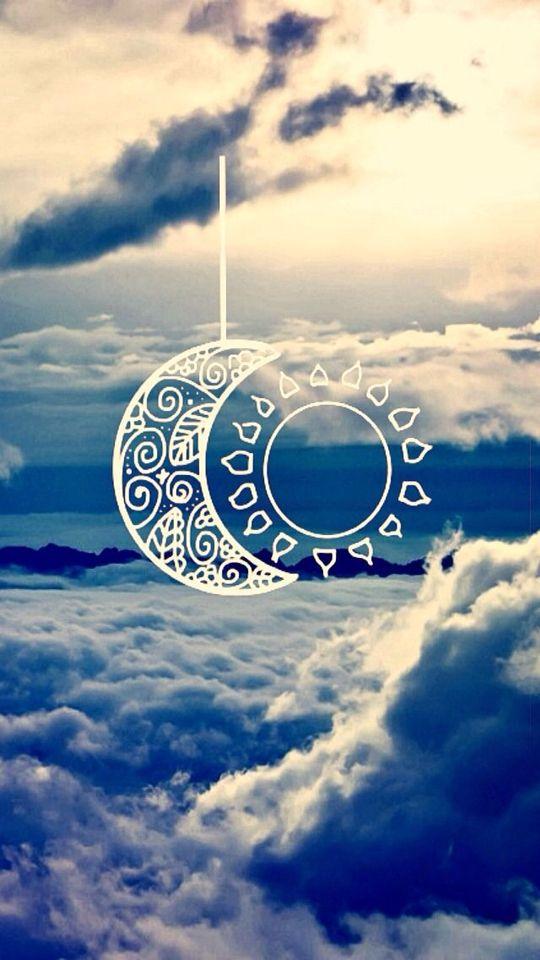 Moon And Sun Wallpaper Iphone Tumblr Boho, Best Phone - Fondos De Sol Y Luna , HD Wallpaper & Backgrounds