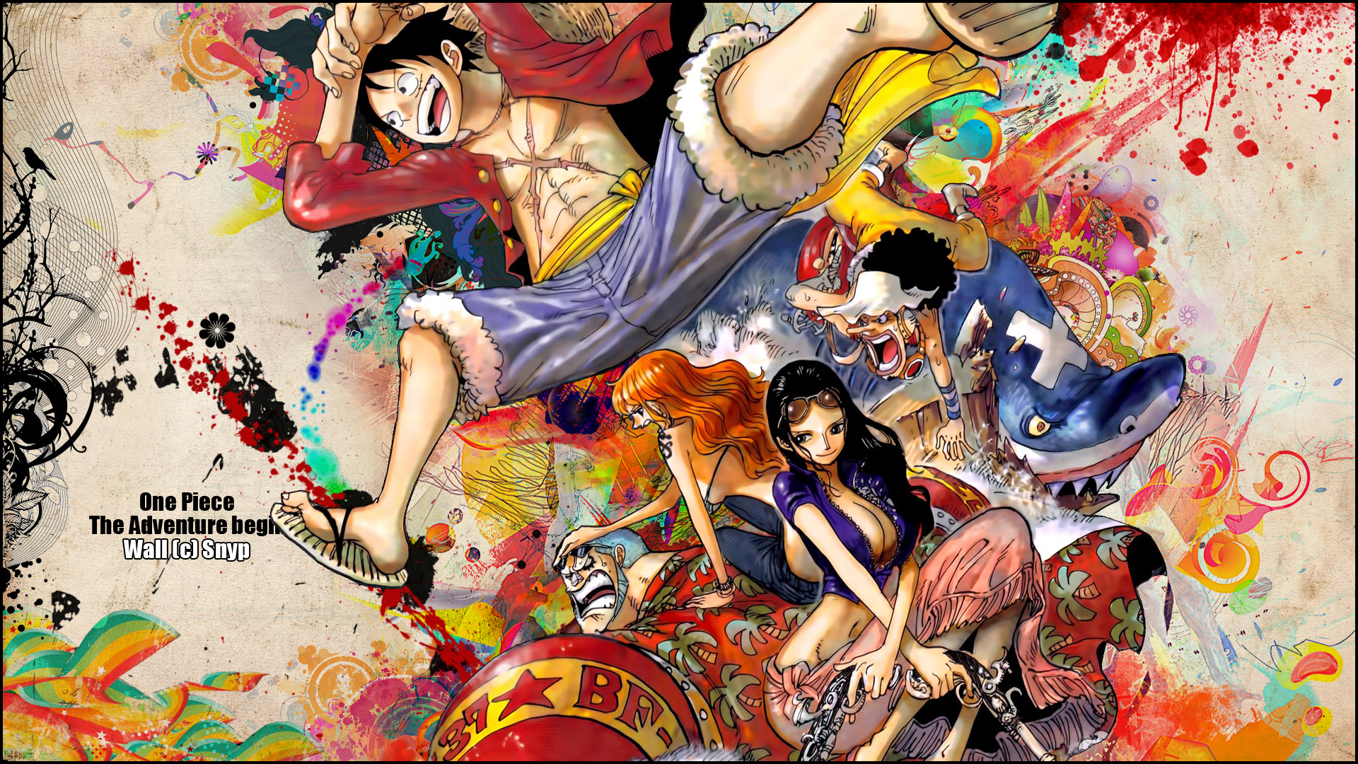 One Piece New World Wallpaper Hd One Piece Watercolor 84816