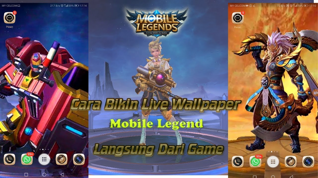 How To Create Live Wallpapers Mobile Legends Directly - Skin