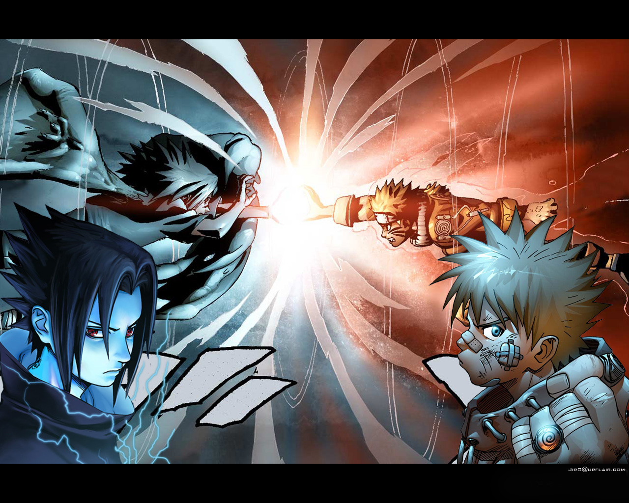 Gambar Wallpaper Naruto Sasuke Naruto And Sasuke Rasengan