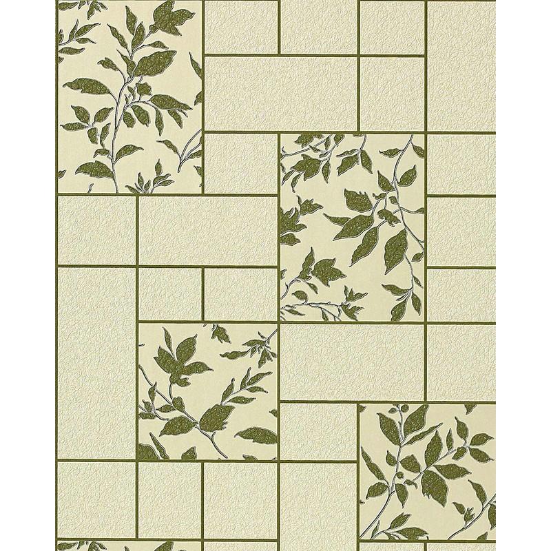 Kitchen Bath Vinyl Wallpaper Wall Modern Tile Floral Beige