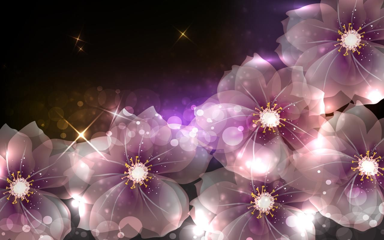 Glowing Flowers Live Wallpaper - Happy Birthday Wishes Live , HD Wallpaper & Backgrounds