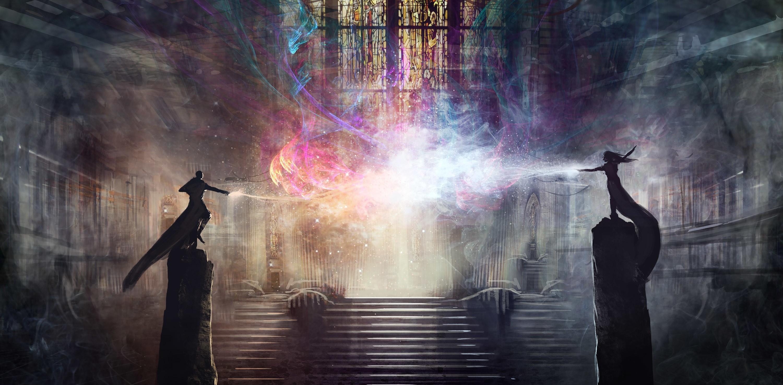 Wizard Artwork Fantasy Art Digital Art Magic Colorful - Wizard Art , HD Wallpaper & Backgrounds