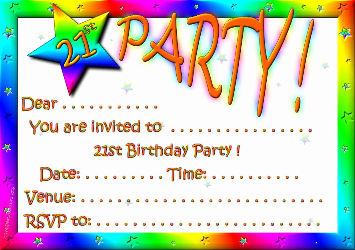 21st Birthday Invitation Templates Free Printable Lovely