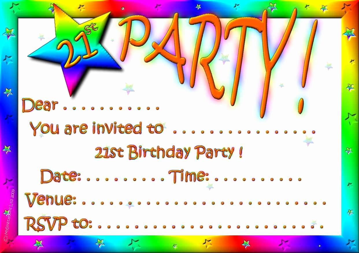 download 21st birthday invitation templates free printable