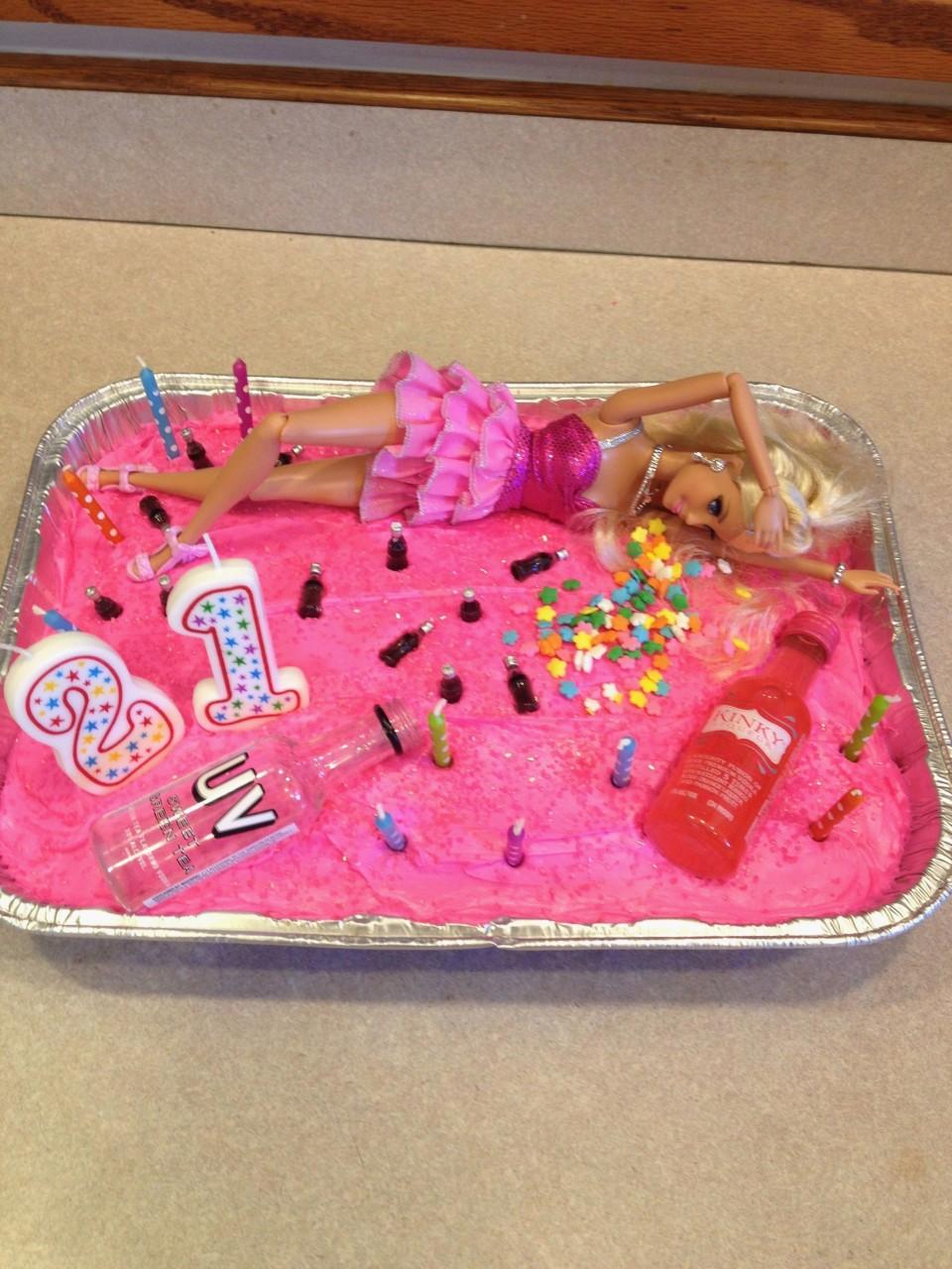 Sensational Barbie 21St Birthday Cake New Beautiful Wallpaper For 21 Girl Funny Birthday Cards Online Alyptdamsfinfo