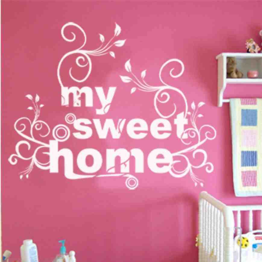 Personalized Home Decoration Vinyl Wallpaper Diy Wall - My Sweet Home , HD Wallpaper & Backgrounds