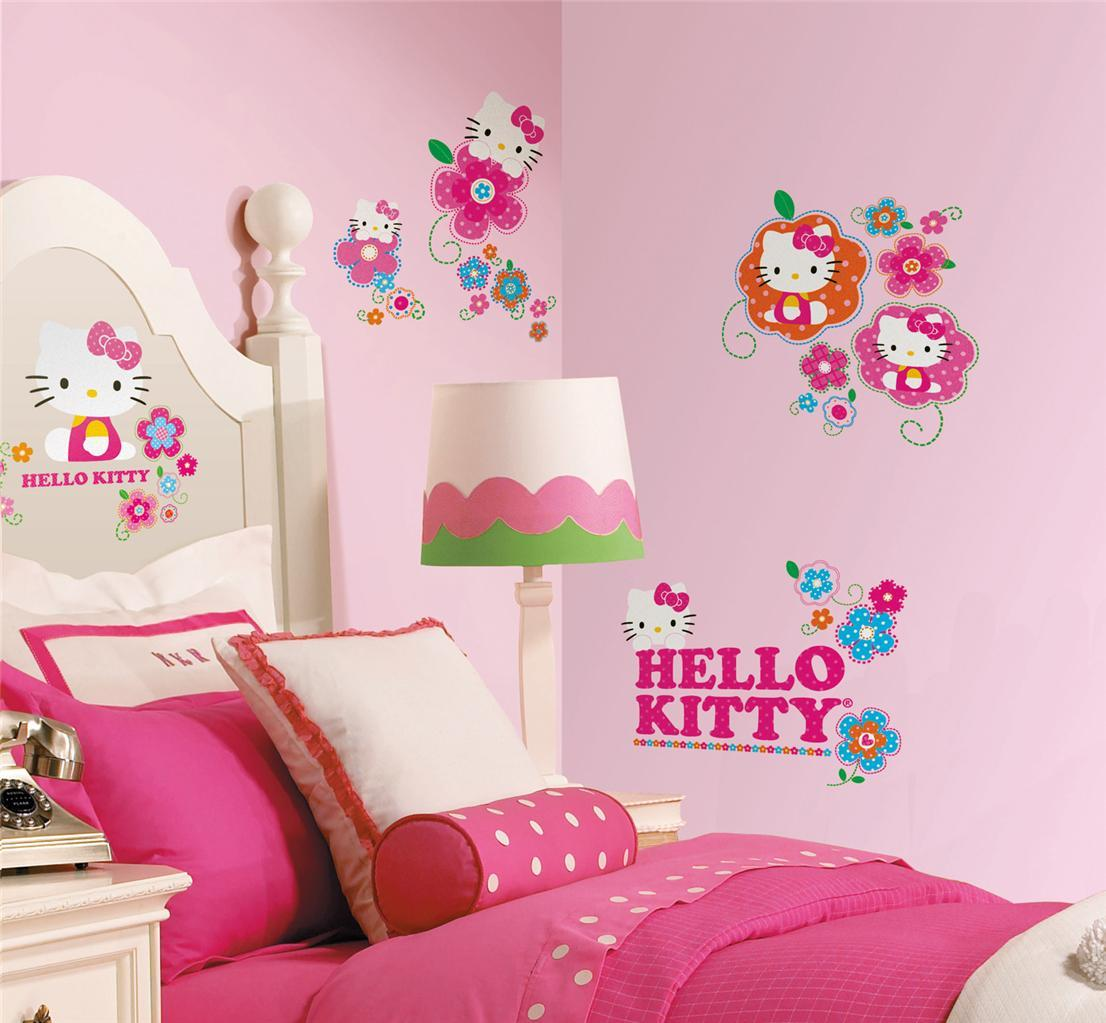 Wallpaper Kamar Tidur Anak Perempuan Hello Kitty Small