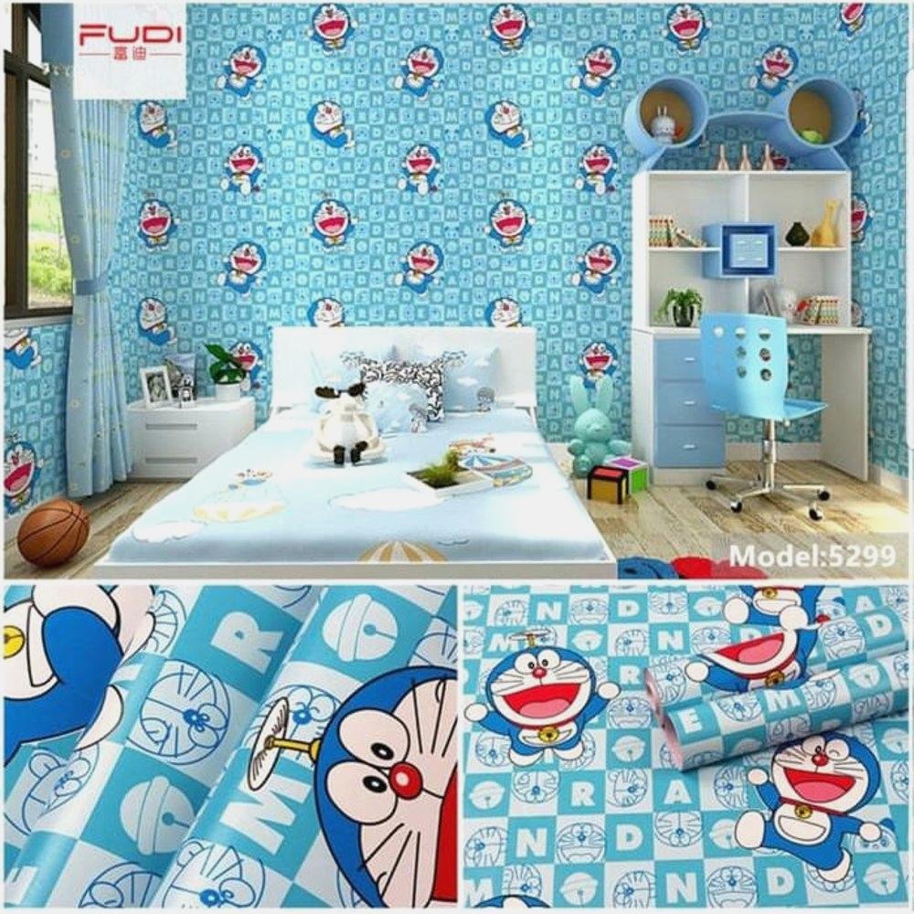 Hw11 Wallpaper Dinding Sticker Karakter Doraemon 45cm