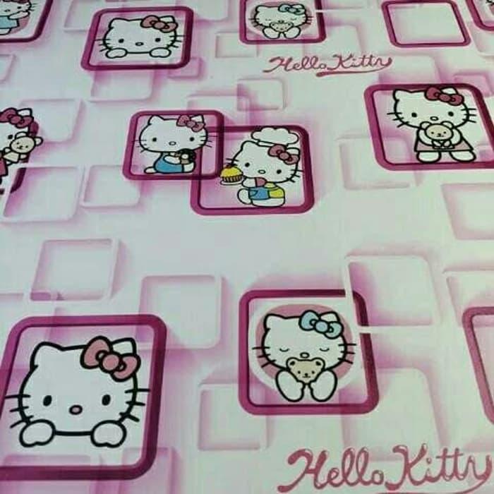 Wallpaper Dinding Motif Hello Kitty Dan Doraemonwallpaper