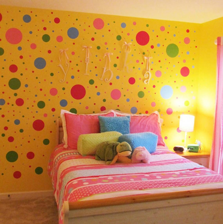 Warna Cat Kamar Tidur Anak Perempuan Kuning Designs On