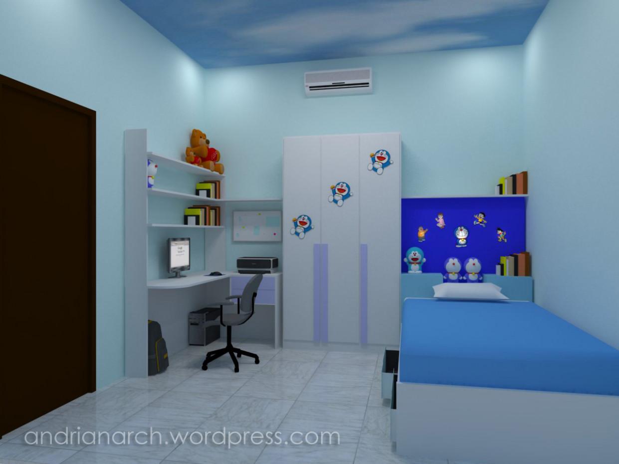 Wallpaper Dinding Kamar Tidur Doraemon Paling Baru Desain
