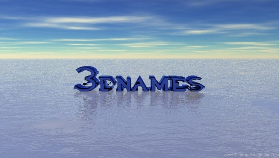 3d Name Wallpapers Make Your Name In 3d Desktop Background - Sea , HD Wallpaper & Backgrounds