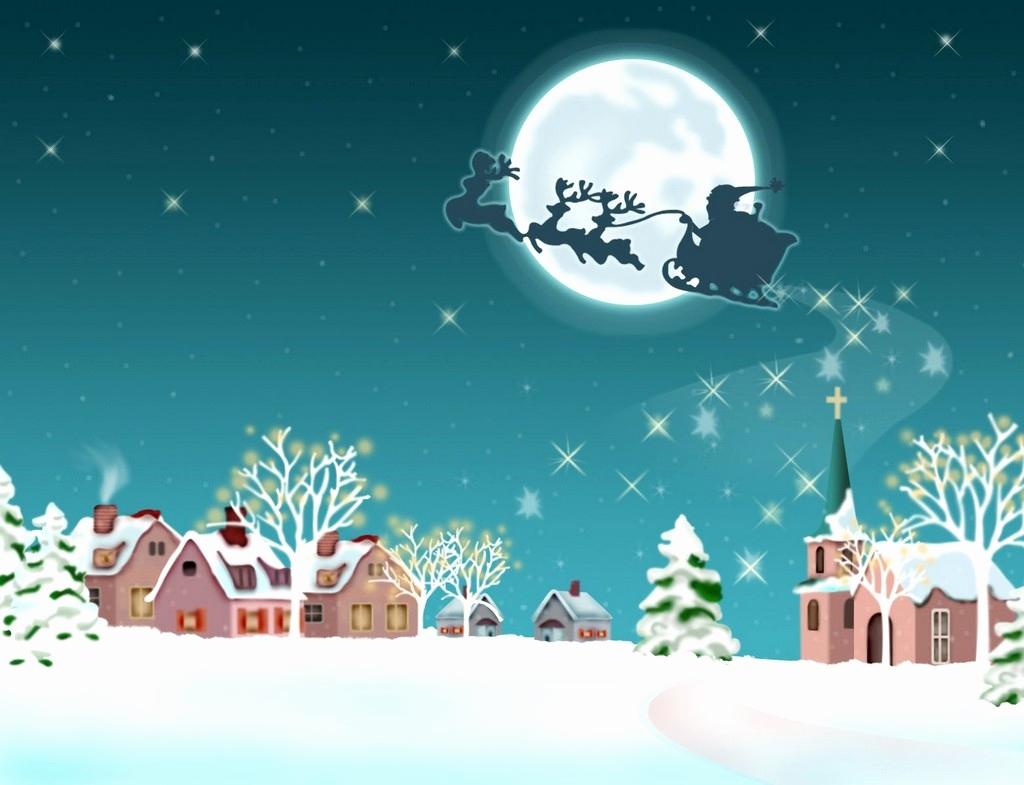 Pavi - Fundo De Natal Papai Noel , HD Wallpaper & Backgrounds