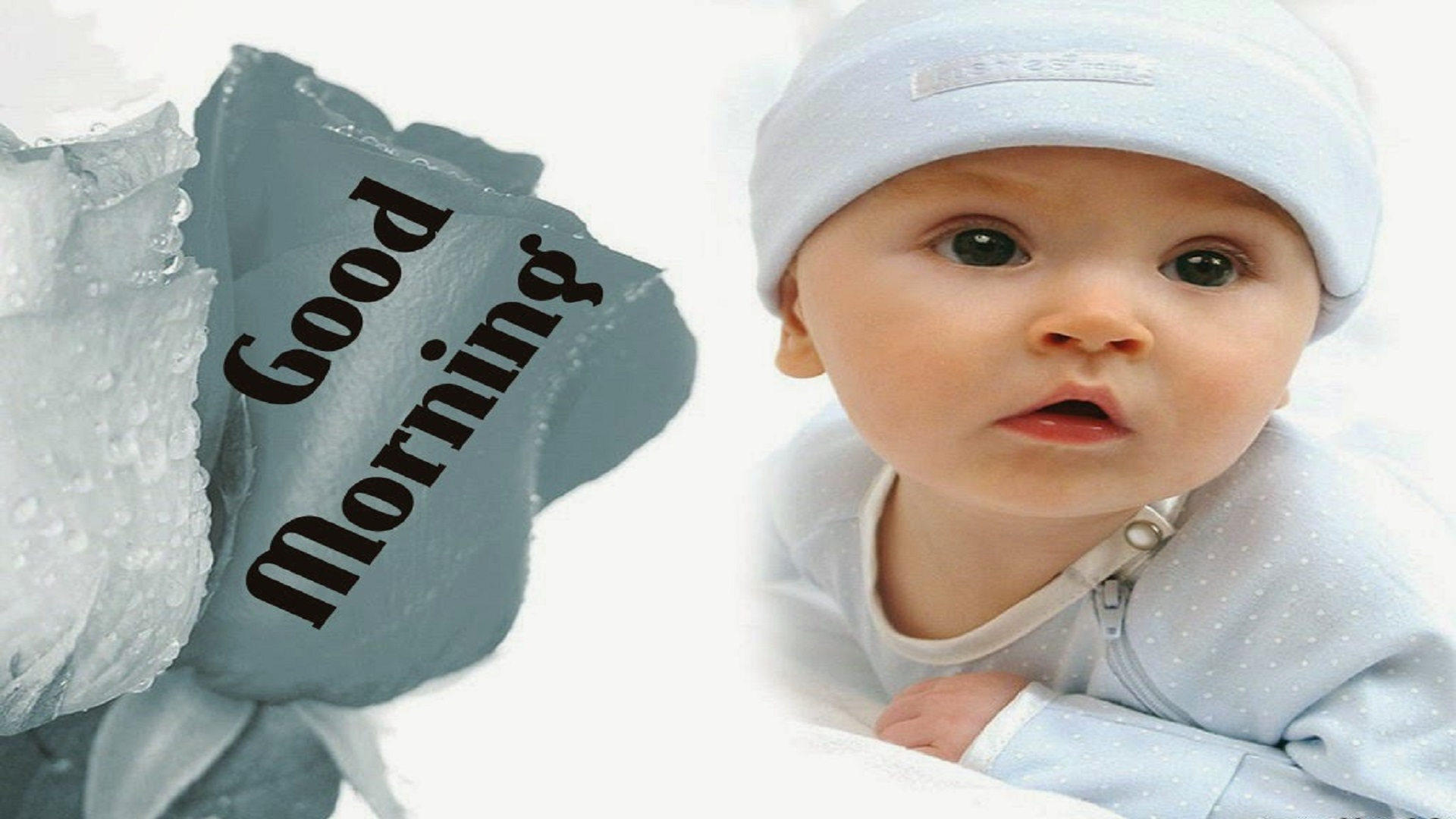 Good Morning Beautiful Baby Hd Free Wallpapers - Good Morning Image With Beautiful Baby , HD Wallpaper & Backgrounds