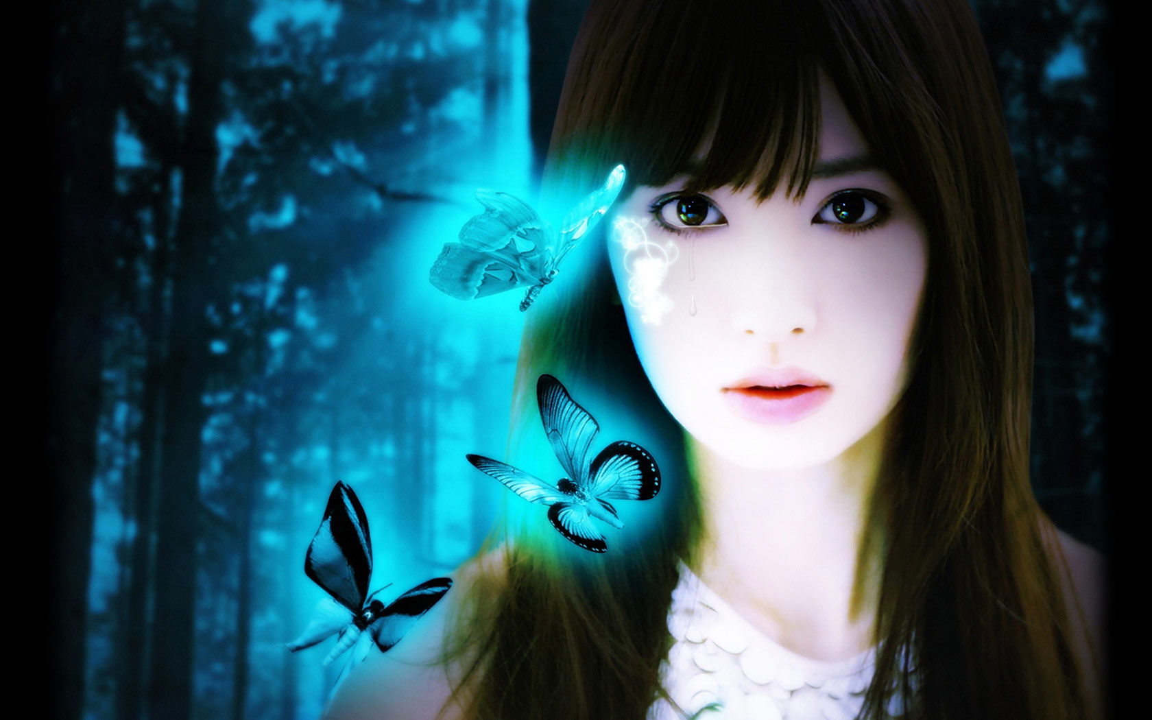 Butterfly Incense Beautiful Anime Wallpaper Comics - Beautiful Blue Butterfly Anime , HD Wallpaper & Backgrounds