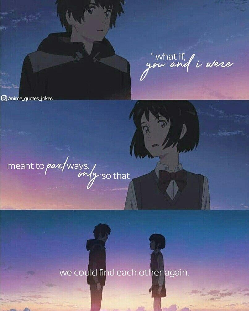 Kimi No Na Wa Your Name Anime Quotes Animequotes Kimi No