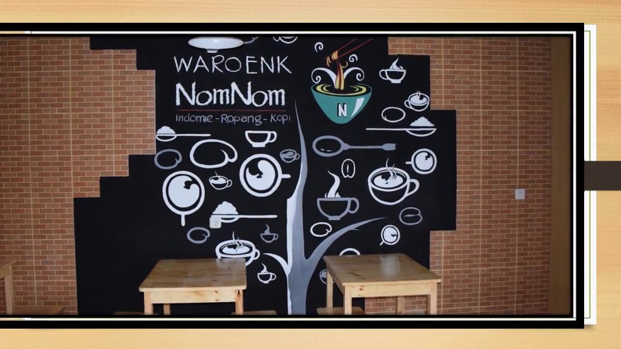 Gambar Wallpaper 3d Cafe Mural Art Hitam Putih Cafe