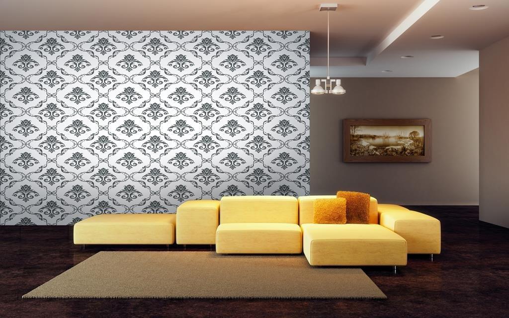 999store Indian Wallpaper Printed Flowers Hd Wallpaper - Wall Murals Mahabharat , HD Wallpaper & Backgrounds