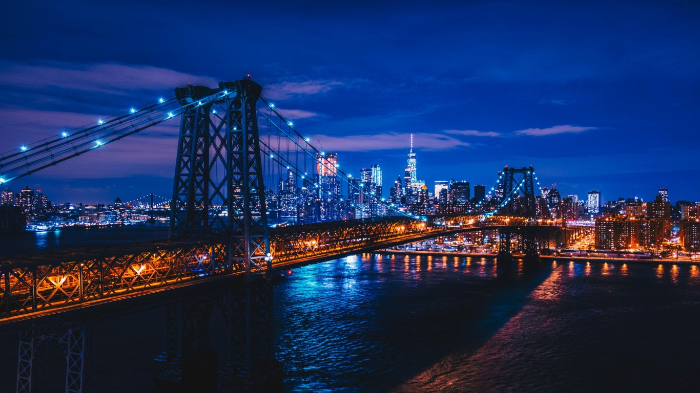 New York Usa Night City Bridge 4k New York Night 823622