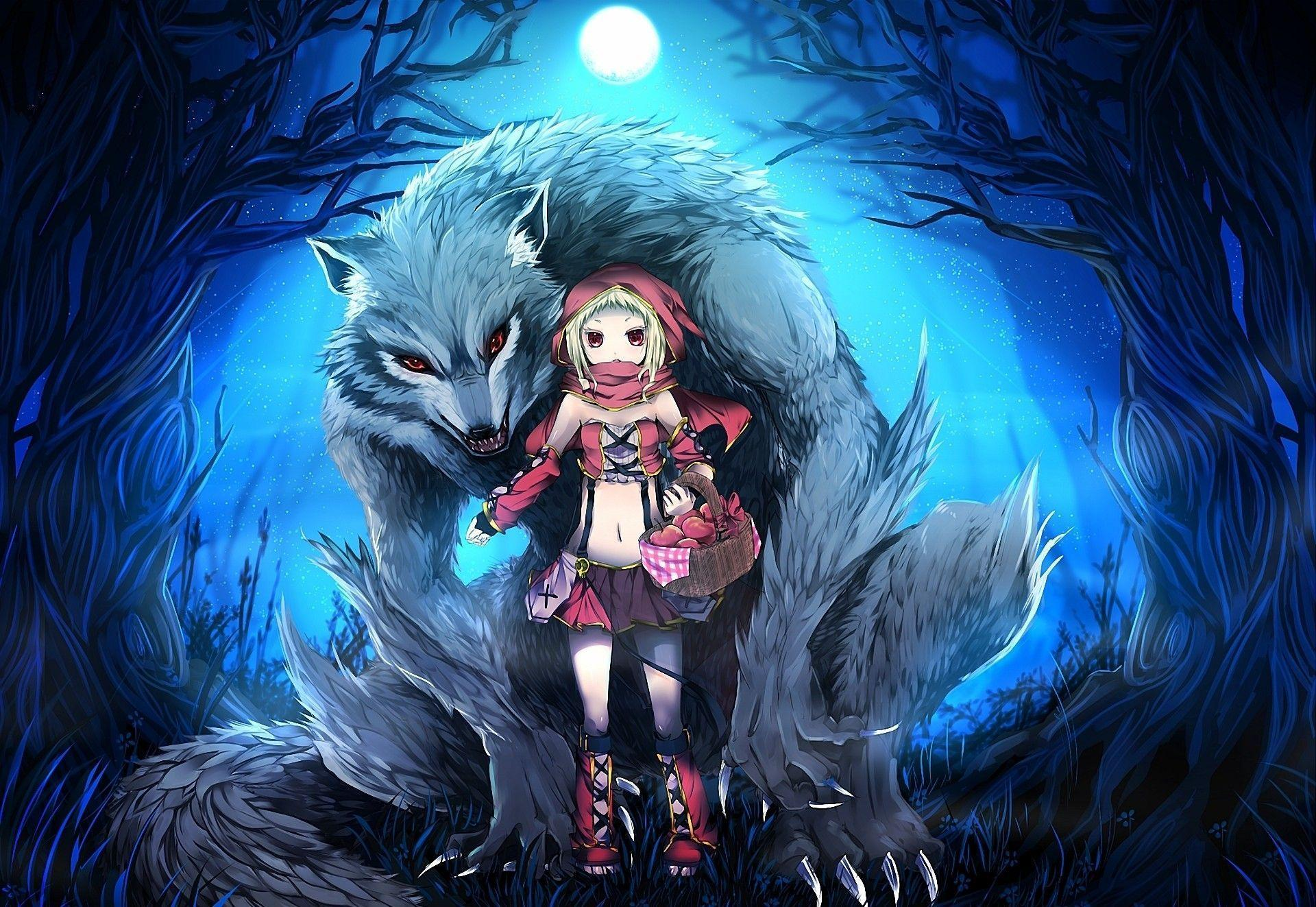 Download Skirts Wolf Wallpaper Anime Wolf And Girl