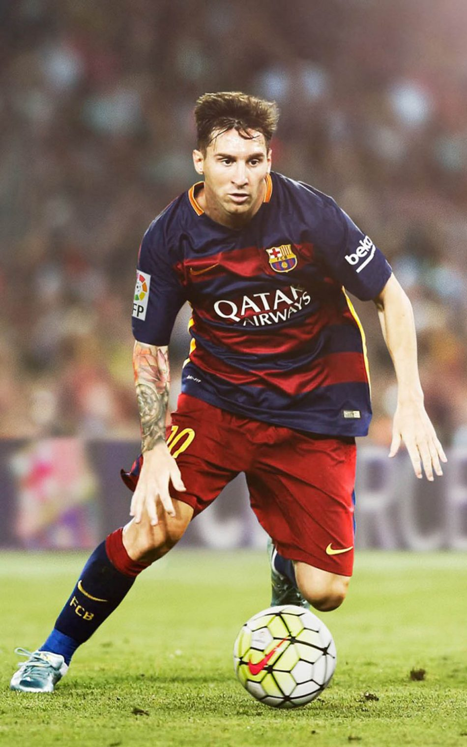Lionel Messi Playing For Fc Barcelona Hd Mobile Wallpaper - Lionel Messi Mobile Wallpaper Hd , HD Wallpaper & Backgrounds