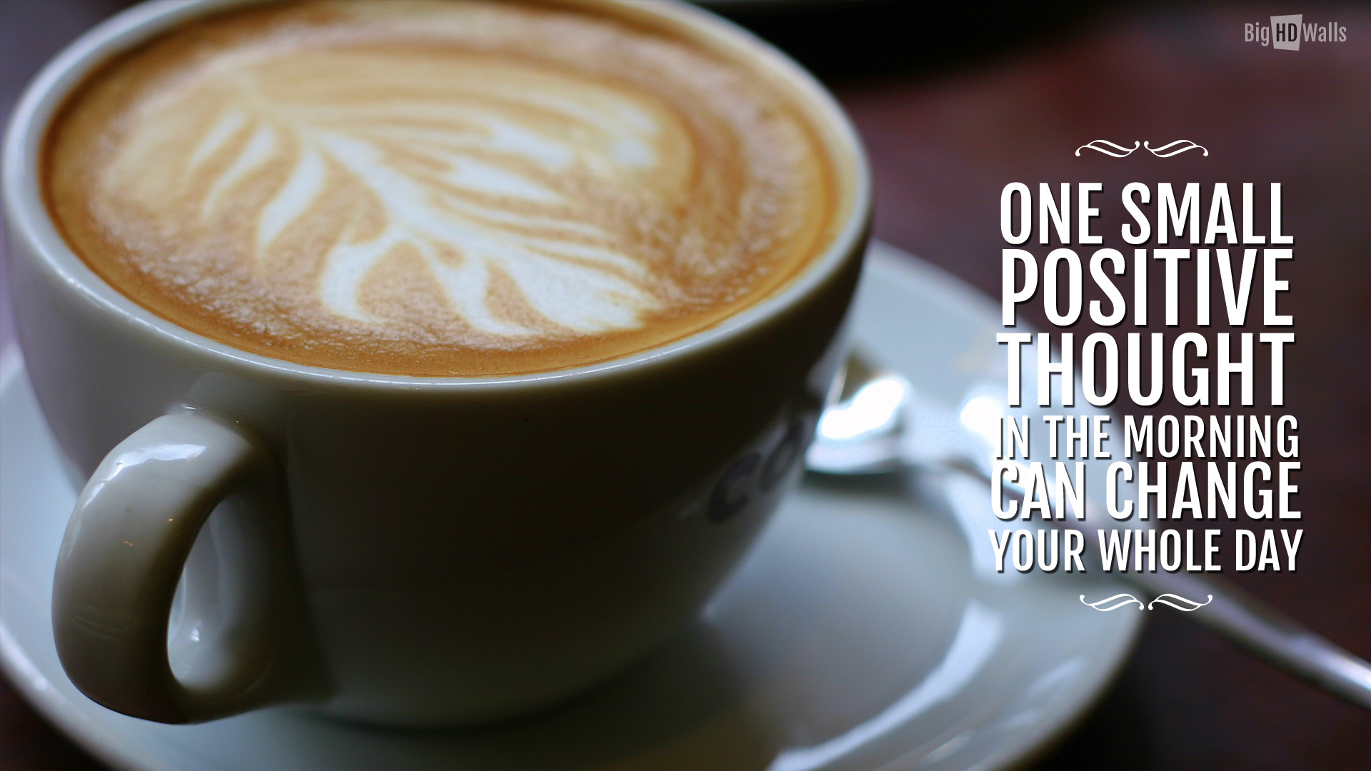 Morning Coffee With An Inspirational Quote Hd Wallpaper Life Is