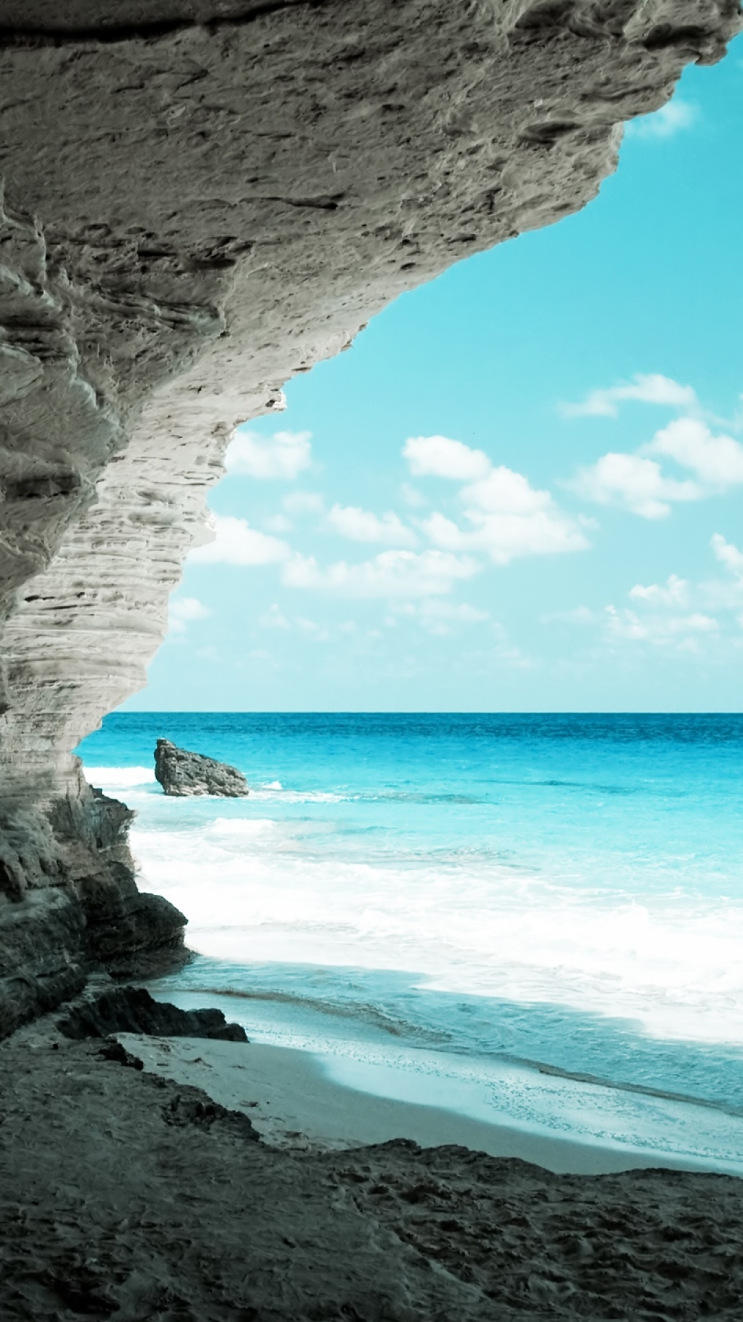 0 Anime Tropical Beach Scenery Mobile Phone Wallpaper Sea