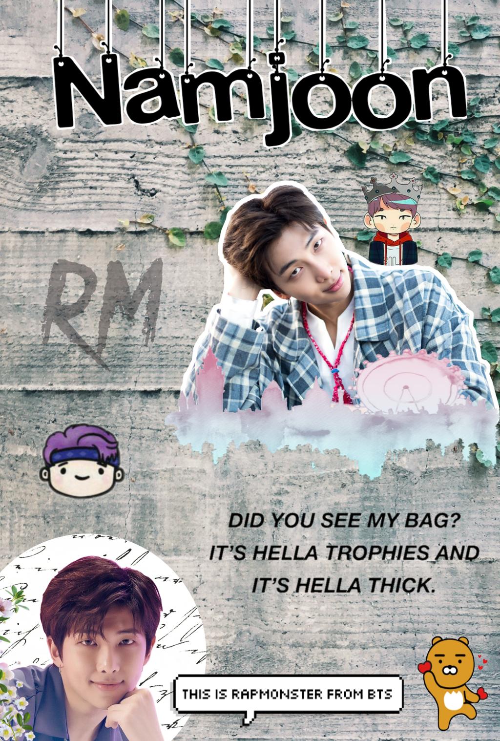 Rm Wallpaper Bts Namjoon Kpop Oppa Poster 828732