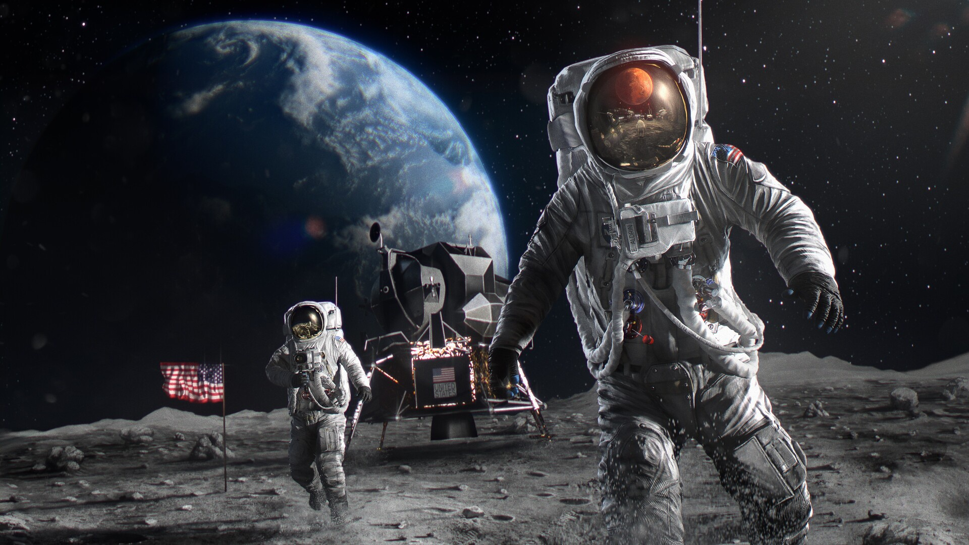 Astronaut In Space Art , HD Wallpaper & Backgrounds