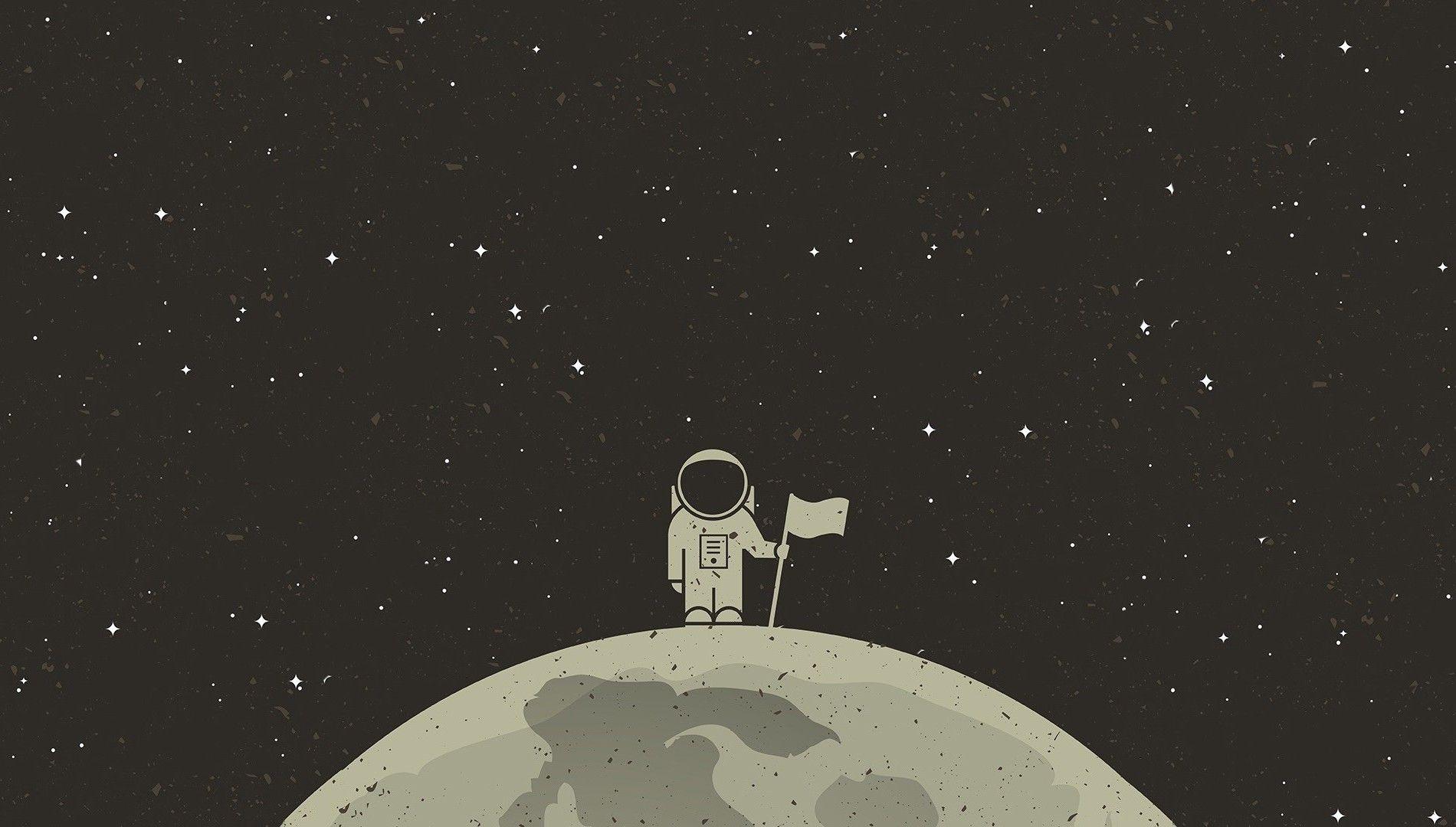 Astronaut Desktop Backgrounds - Science Fiction Simple Backgrounds , HD Wallpaper & Backgrounds