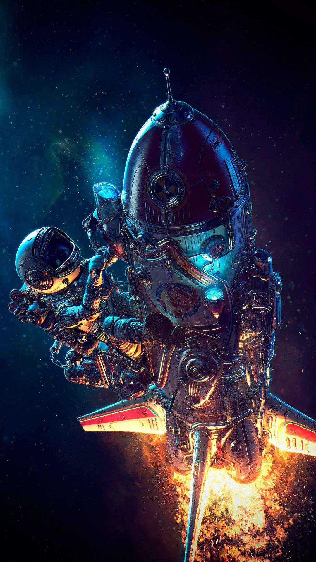 Download This Wallpaper Preview - Space Astronaut Wallpaper For Iphone , HD Wallpaper & Backgrounds