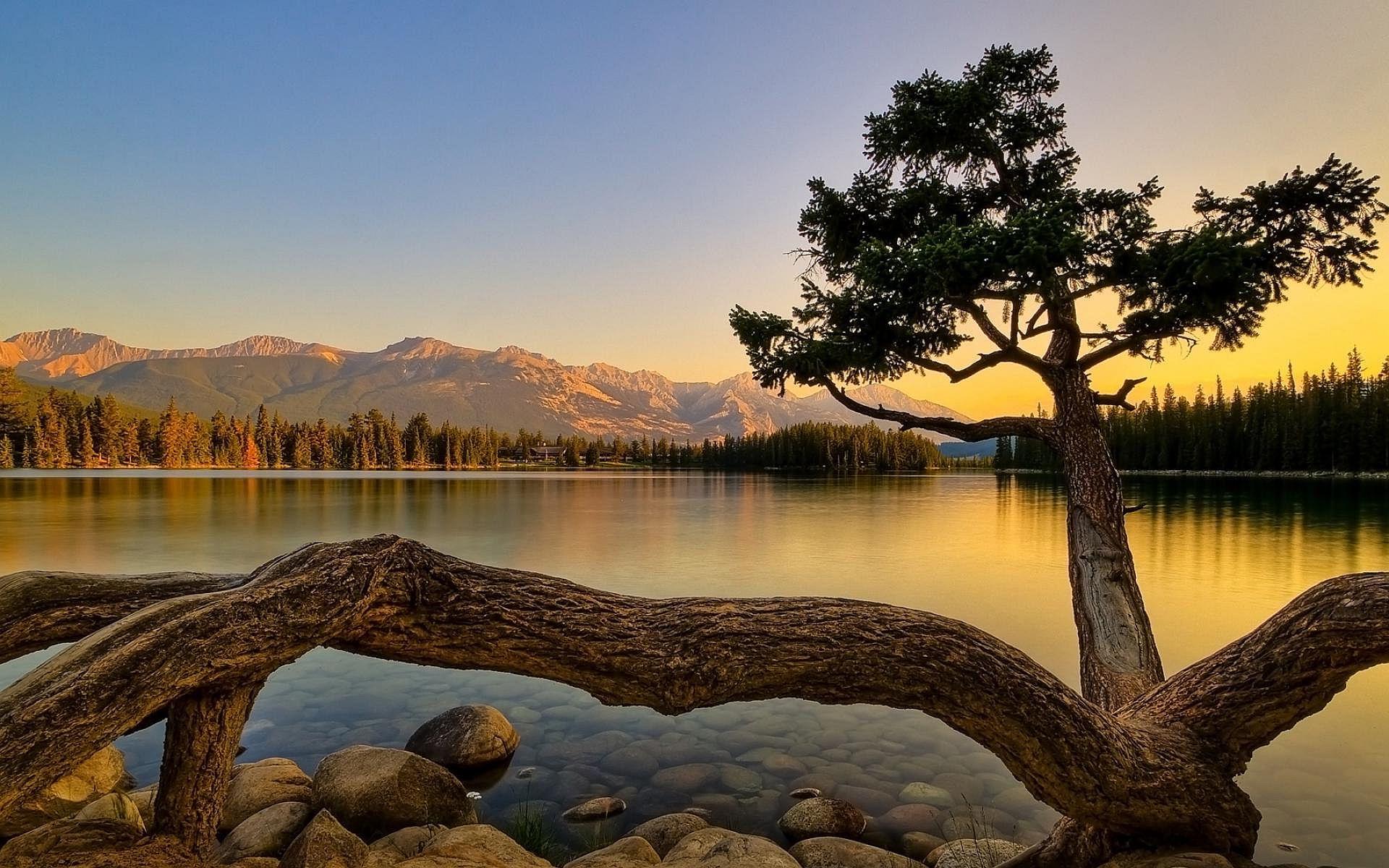 Pangong Lake - Nature Art Original Landscape Paintings , HD Wallpaper & Backgrounds