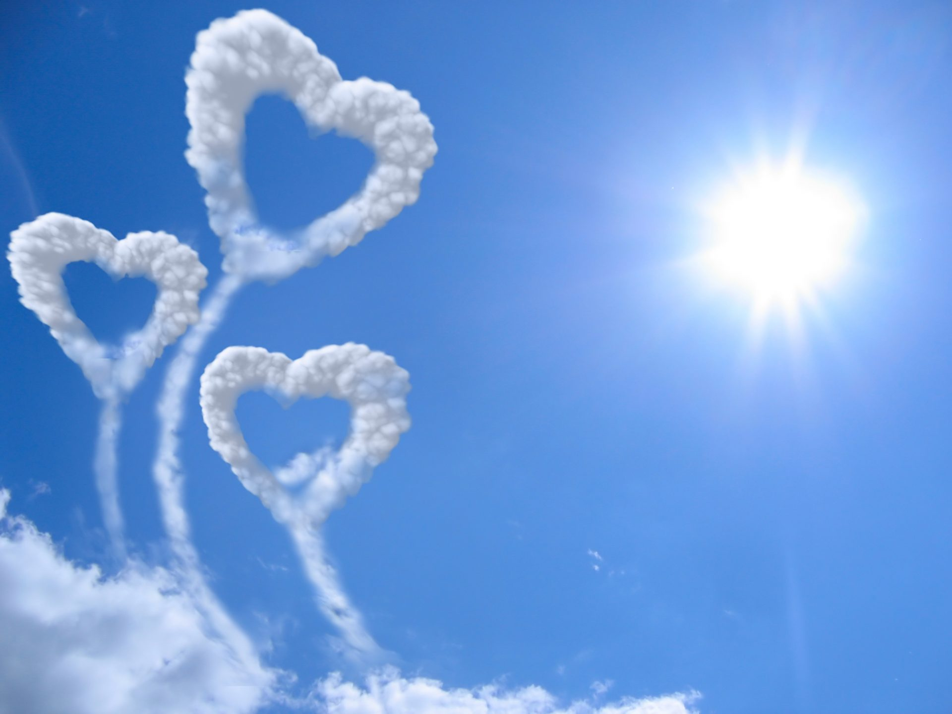 Romantic Heart In Cloud Hd Wallpapers Download For Heart