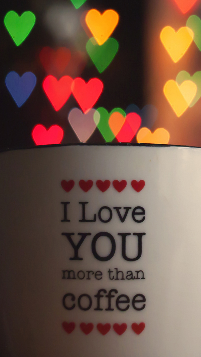I Love You More Than Coffee Iphone Se Wallpaper - Good Morning Reply For Love , HD Wallpaper & Backgrounds