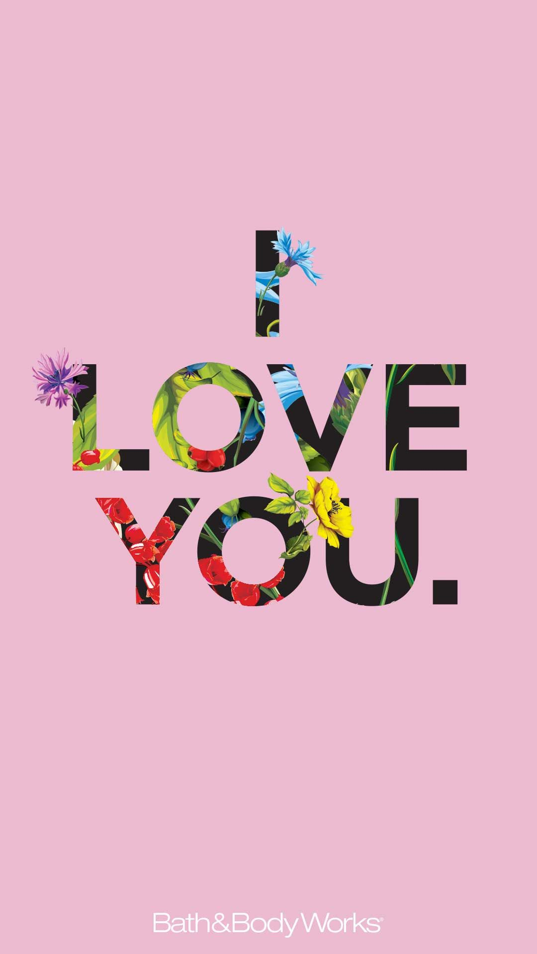 I Love You Iphone Wallpaper - Graphic Design , HD Wallpaper & Backgrounds
