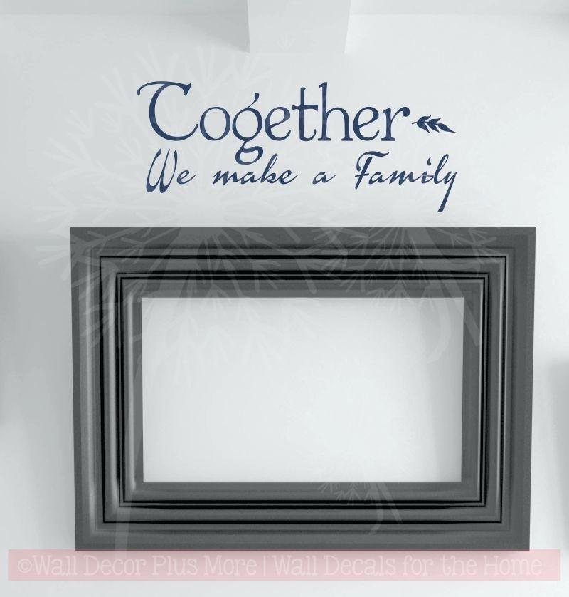 family quotes wall decals kids room together picture