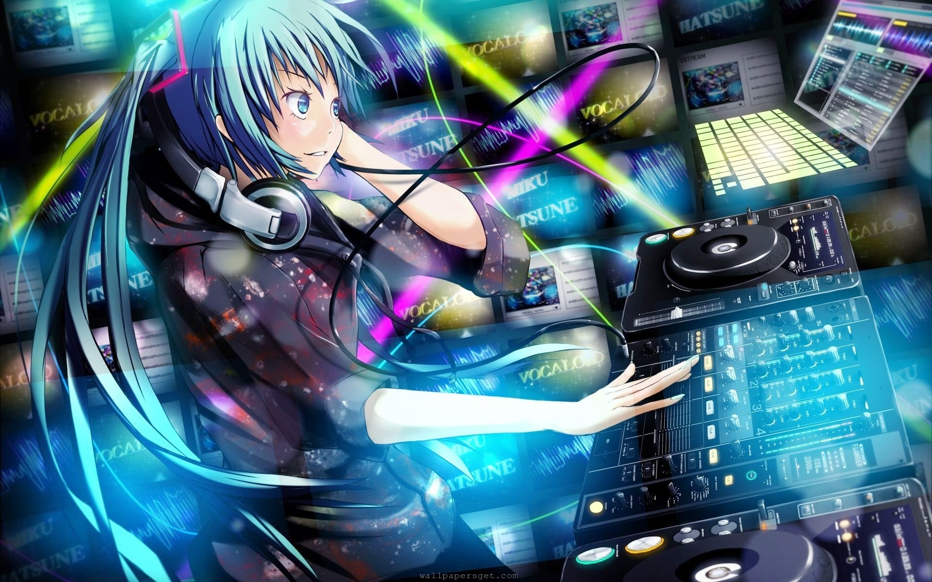 Dj Sona Blue By Chrisedua Anime Music Wallpaper Hd